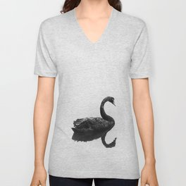 Swan of Black Unisex V-Neck