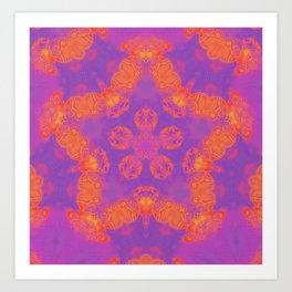 Orange, Pink, and Purple Kaleidoscope Art Print