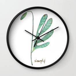 Floral lives green Wall Clock