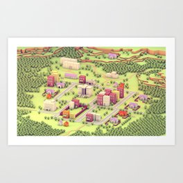 "EarthBound ""Onett"" (Day) Art Print"