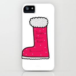 Snuggly Winter Boots iPhone Case