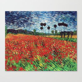 Field Of Poppies Vincent Van Gogh Painting Canvas Print