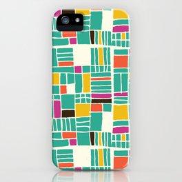Turquoise Quilt Love iPhone Case