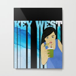 Drink Up in Key West Metal Print