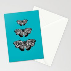 Butterflies on Teal Stationery Cards