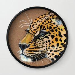 Leopard glance Wall Clock