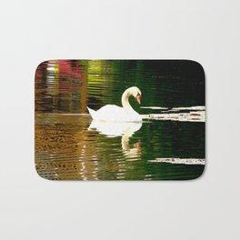 Swan Color Waves Bath Mat