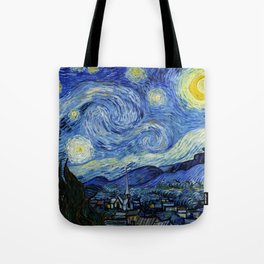 """Vincent van Gogh """"The Starry Night"""" Tote Bag"""