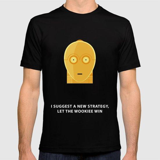 Star Wars Minimalism - C3PO T-shirt