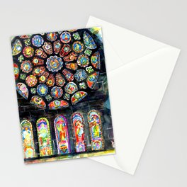 Bourges Cathedral Rose Stationery Cards