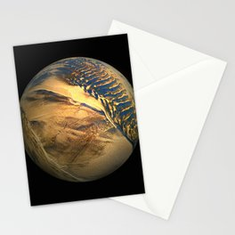 Globe20/For a round heart Stationery Cards