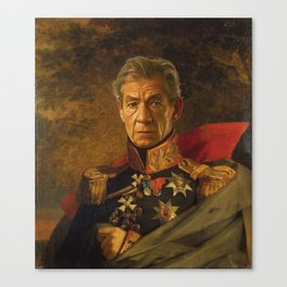 Sir Ian McKellen - replaceface Canvas Print