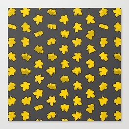Yellow Game Meeples Canvas Print
