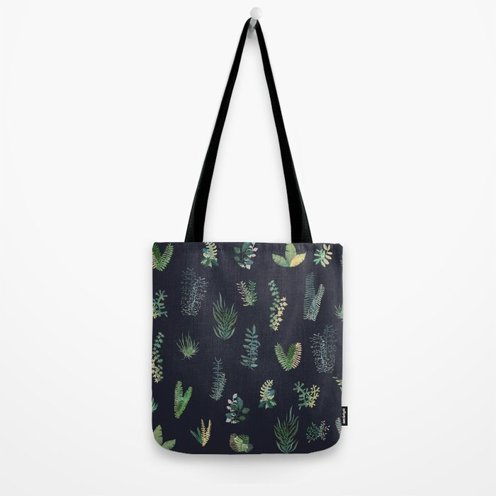 green garden at nigth Tote Bag