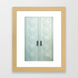 griffith observatory door in l.a., detail Framed Art Print