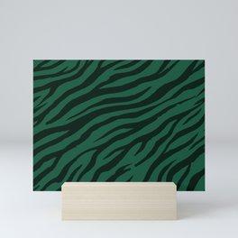 Pine Green Wildlife Tiger Pattern Mini Art Print