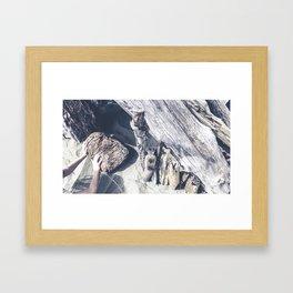 Beach Structure Framed Art Print