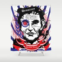 lincoln Shower Curtains featuring Abraham Lincoln by Peter_Vs_All