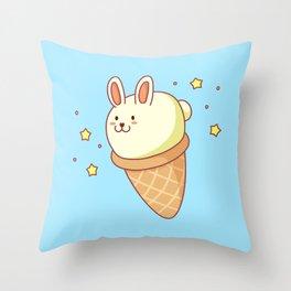 Bunny-lla Ice Cream Throw Pillow
