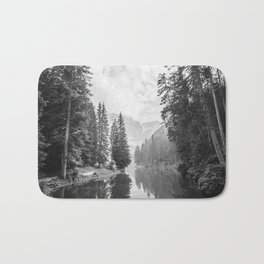The Perfect View (Black and White) Bath Mat