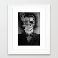 smoking Framed Art Prints featuring Smoking by Havier Rguez.