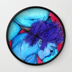 dreaming in rose Wall Clock