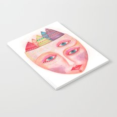 girl with the most beautiful eyes mask portrait Notebook