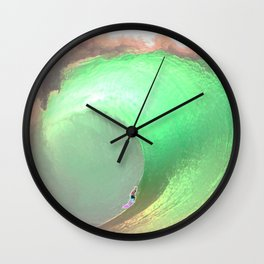 The Pipeline Foam Ball Wall Clock