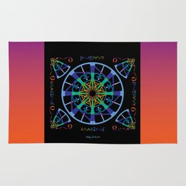 Imagine from the Inside - Black/Orange Pink Rug