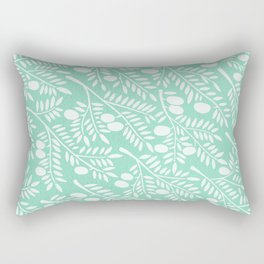 Mint Olive Branches Rectangular Pillow