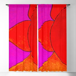 sun in pink and orange Blackout Curtain