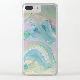 Dreamy paradise Clear iPhone Case