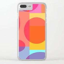 Fun Geometrics Clear iPhone Case