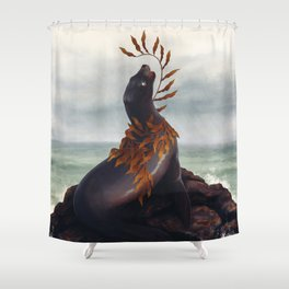 Cold Shore Shower Curtain