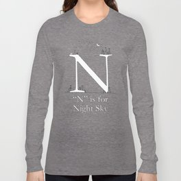 """N"" is for Night Sky Long Sleeve T-shirt"