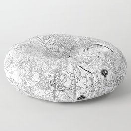Other Worlds: The Kingdoms Floor Pillow