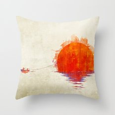 The Fisherman and His Boy Throw Pillow