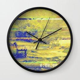 Glitch Security Footage Wall Clock