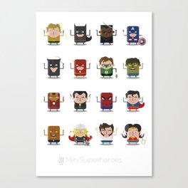 Mini Superheroes Canvas Print