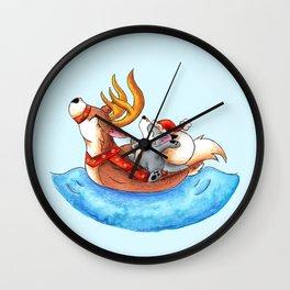 Pool Party Santa Wall Clock