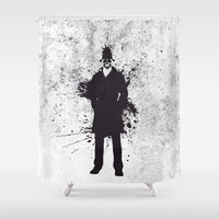 rorschach Shower Curtains featuring WATCHMEN - RORSCHACH by Zorio