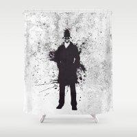 watchmen Shower Curtains featuring WATCHMEN - RORSCHACH by Zorio