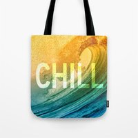 chill Tote Bags featuring Chill by SURFskate
