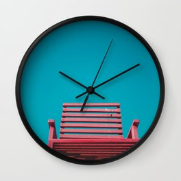 Red Chair in the Sky Wall Clock