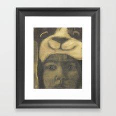 Little Bear Underpainting Framed Art Print