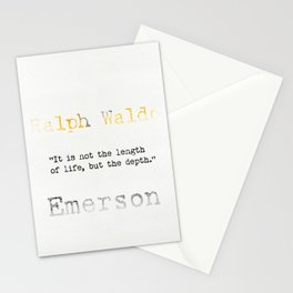 Ralph Waldo Emerson quote Stationery Cards