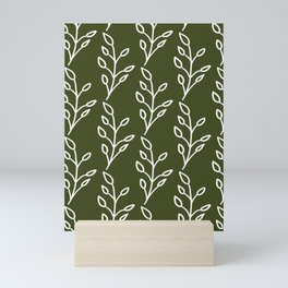 Feeling of lightness Pattern- Pine needle green Mini Art Print