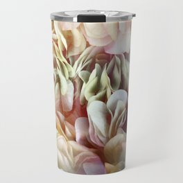 Soft Pastel Petal Ruffles Abstract  Travel Mug