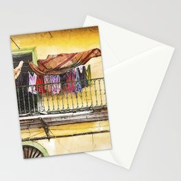Laundry day in Panama City, Panama Stationery Cards