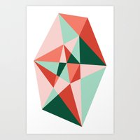 gem Art Prints featuring Gem by lizzy gray kitchens